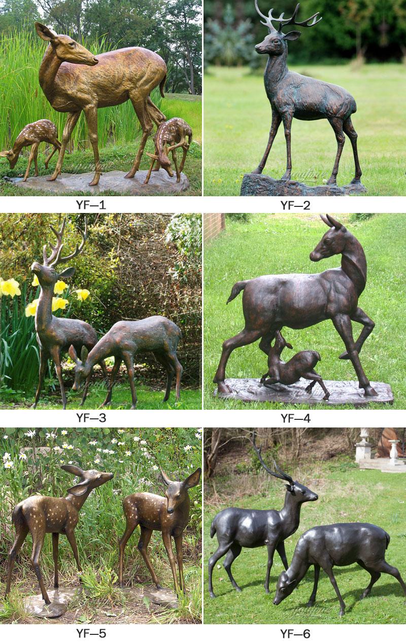 Outdoor Deer Statue For Bronze Stag
