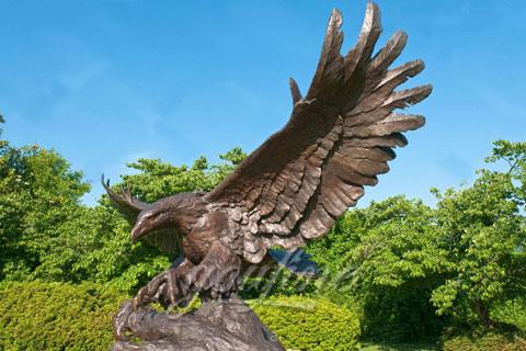Cast Brass Bronze Eagle Sculptures For Sale