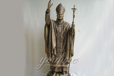 Decorative Outdoor Cast Bronze John Paul II Statue