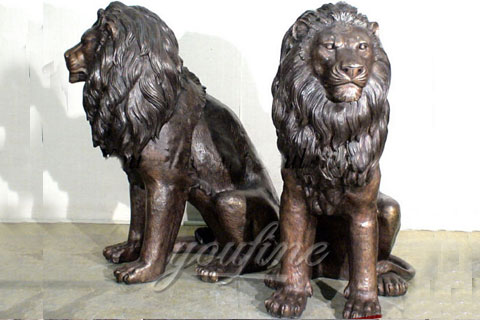 Garden Decoration Casting Bronze Lion Statue