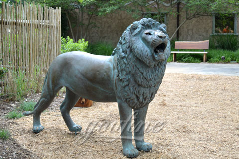 Garden standing Casting Bronze Lion Statue