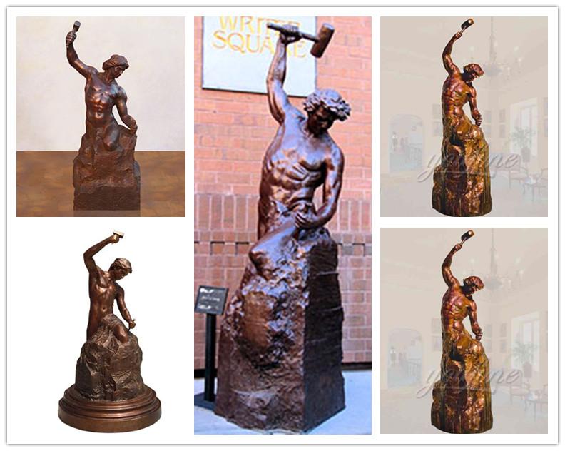 Hot Sale Casting Bronze Self Made Man Statue