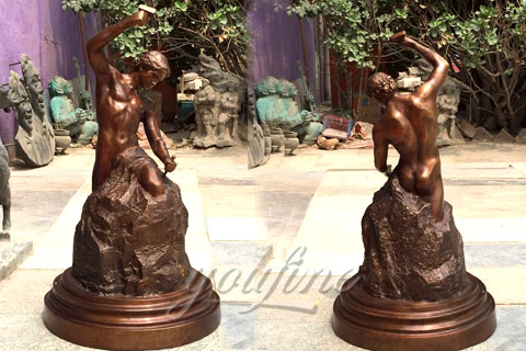 Hot Sale Casting Bronze Self Made Man Statue
