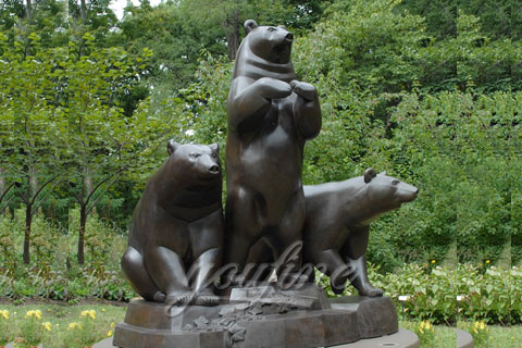 Life Size Garden Bronze Bear Statue For Sale