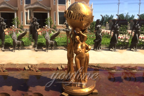 Outdoor Bronze The World Is Yours Statue