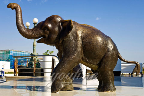 Wholesale Small Cast Bronze Elephant Sculpture
