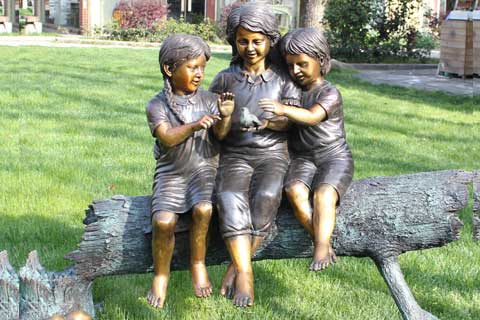 Antique design outdoor Life Size Bronze Statues for Garden and Yard Decor on Sale
