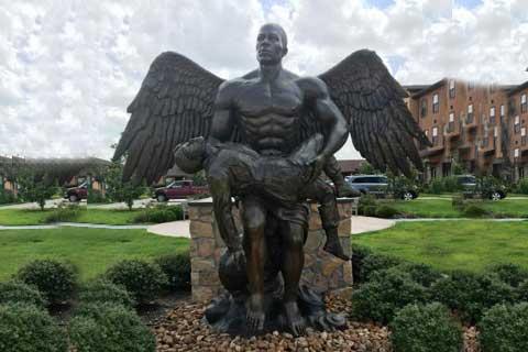 Brave outdoor design Outdoor Angel Sculpture for Garden Decor