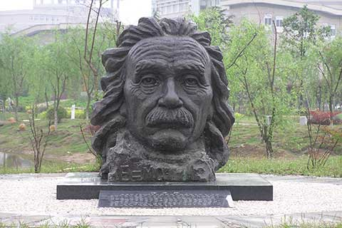 Famous design outdoor Bronze Sculpture Einstein for Garden and Yard Decor on Sale