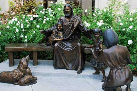 Happy Family outdoor design Bronze Sculptures for Garden& Yard Decoration