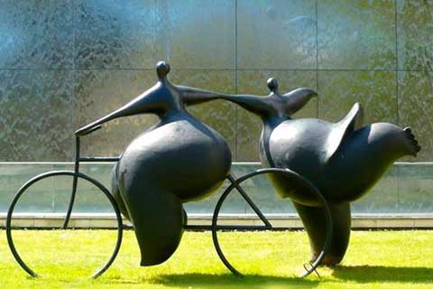 Life Size outdoor famous Abstract Casting Bronze Sculpture with Custom Made Idea
