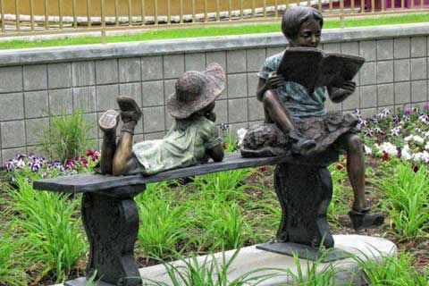 Hot cast Life Size Wholesale Garden & Yard Decoration Antique Bronze Kids Statue Metal