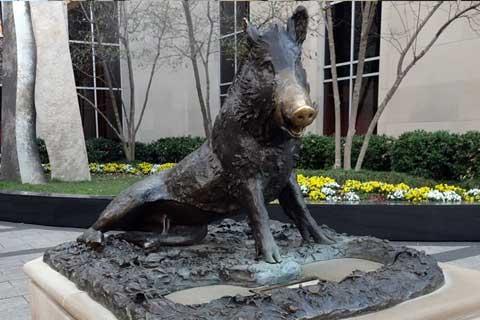 New Design life size outdoor Casting Bronze Wild Pig Sculpture for Garden Decor