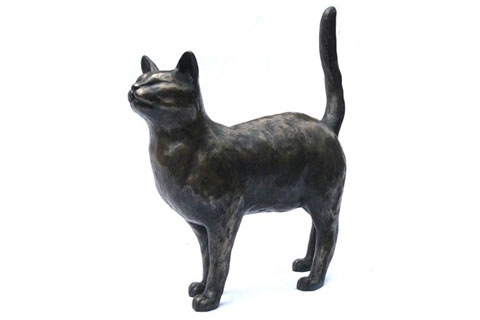 New design indoor bronze statue cat for sale