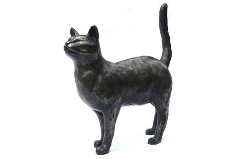 New design indoor bronze statue cat for sale