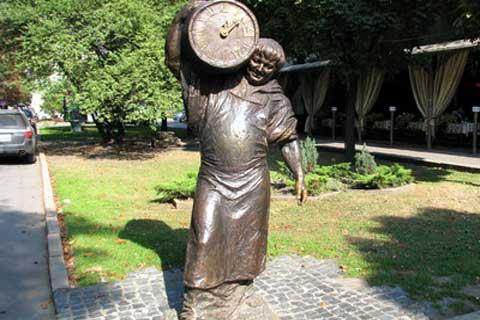 Street outdoor life size Art Sculpture in Casting Antique Bronze on Sale