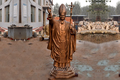 Bronze Pope For Australia Customer