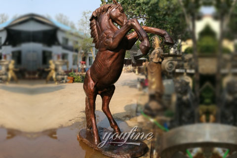 Life size wholesale home decoration antique bronze horse statue metal