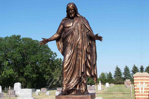 My order about Standing famous religious church detailed casting bronze Jesus statues