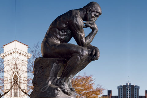 Outdoor Famous Classic Bronze The Thinker Statue