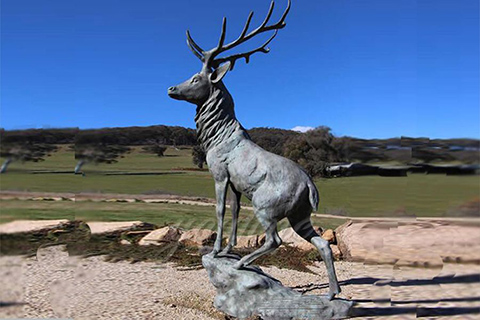 BOK-215 Life Size Bronze Stag Statue Wildlife Animal Sculpture for Sale