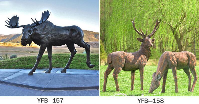 Life Size Bronze Stag Statue