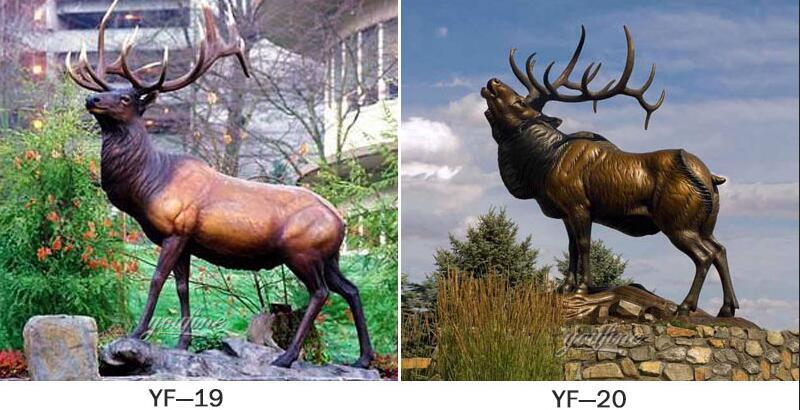 bronze elk statue for garden decor for sale