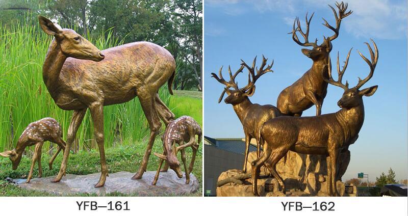 buy life size bronze deer statue for sale