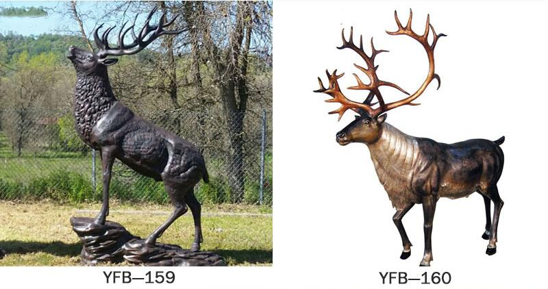 foundry supply life size bronze stag statue for sale