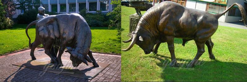 life size antique bronze american bison statue for sale