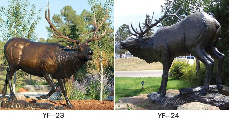 life size bronze elk statues for sale