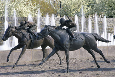 BHS-01 bronze statue of man riding horse design for sale