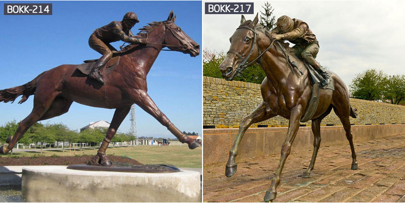 bronze horse racing statues for sale