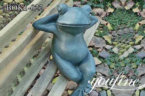 Full Size Bronze Frog Statue for Garden